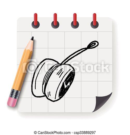 yo-yo doodle - csp33889297