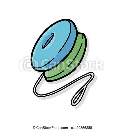 yo-yo doodle - csp29856388
