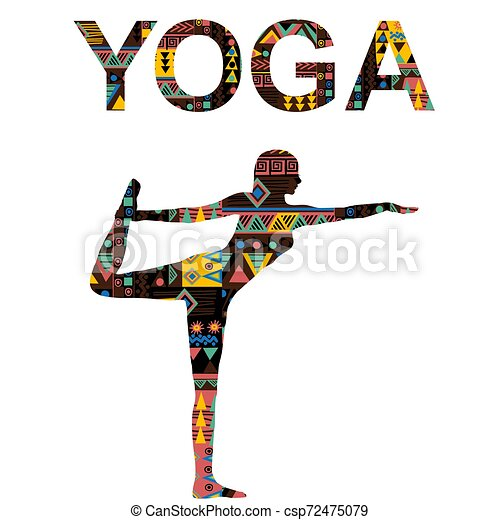 yoga background with woman practicing lord of the dance