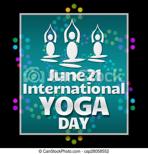 Yoga Day Black Colorful Neon International Yoga Day Image With
