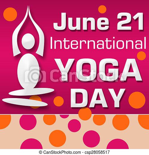 Yoga Day Pink Orange Dots International Yoga Day Image With Orange Pink Dots Background