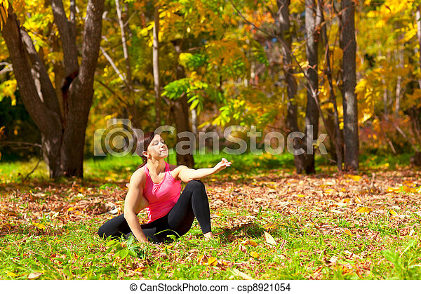 yoga eka pada yoga dandasana pose woman exercises in the