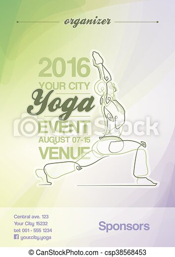 Yoga Event Poster Green Purple