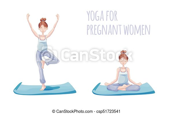 yoga for pregnant woman pregnant woman practicing yoga in