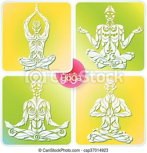 Yoga Four Logo - csp37014923