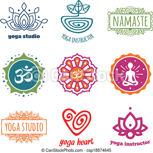 Yoga graphics - csp18874645