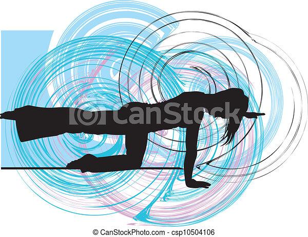 Yoga Illustration - csp10504106
