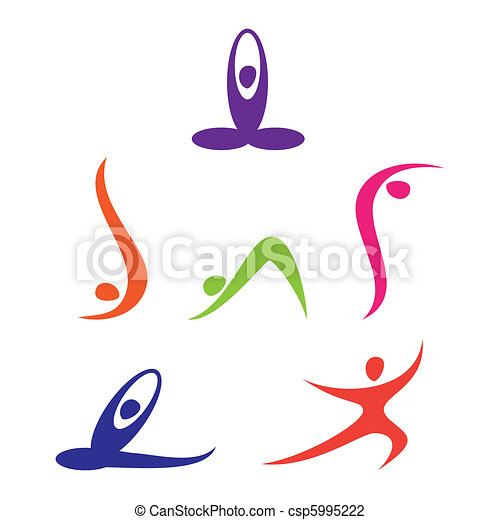 set of yoga icons rh canstockphoto com yoga vectoriel yoga vector art