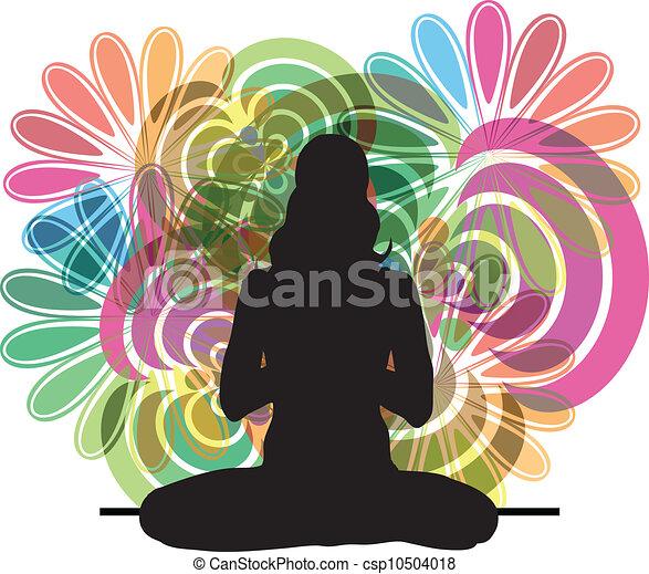 yoga, illustrazione - csp10504018