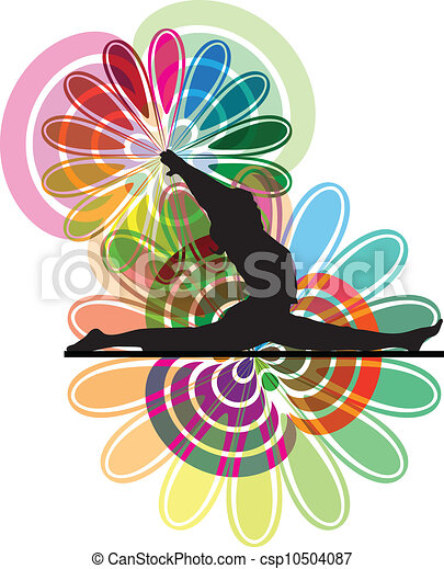 yoga, illustrazione - csp10504087