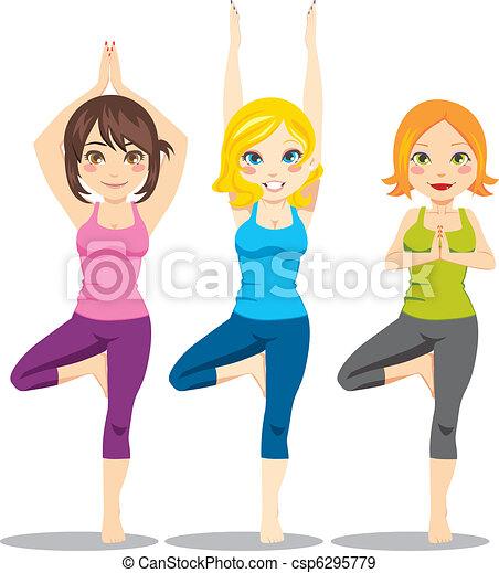 yoga, kobiety - csp6295779