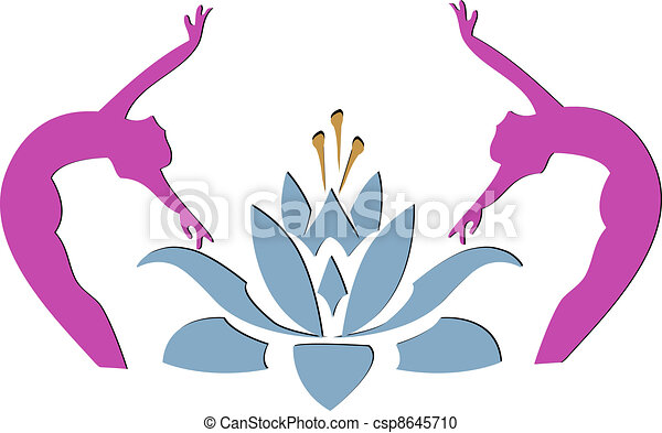 Yoga lotus icon  - csp8645710