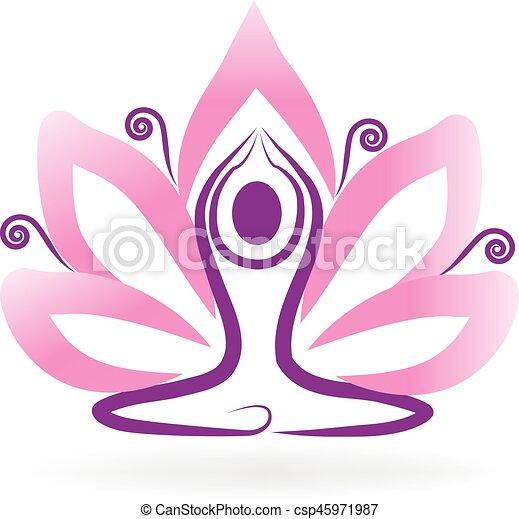 Yoga lotus logo lotus flower yoga logo meditation symbol vector yoga lotus logo csp45971987 mightylinksfo