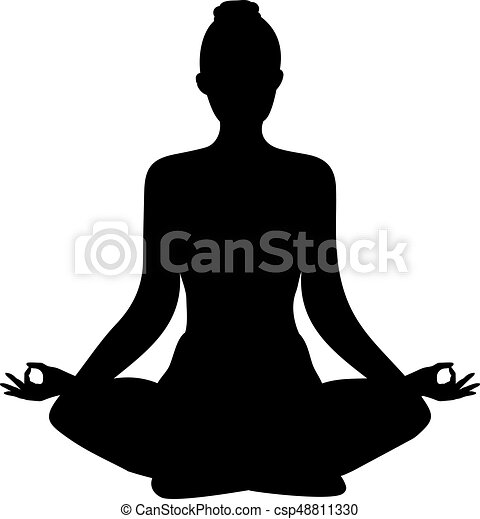 yoga lotus position silhouette vector shape yoga lotus