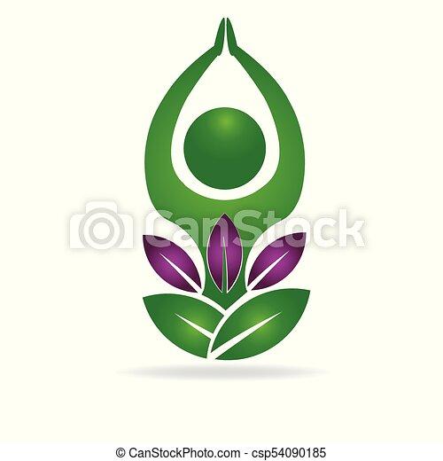 yoga man meditation logo yoga man and purple flower meditation logo