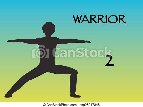 Yoga Man Warrior 2 - csp28217848
