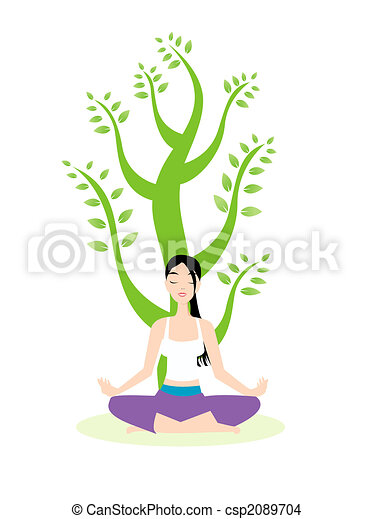 Yoga meditation Clip Art and Stock Illustrations  53,545