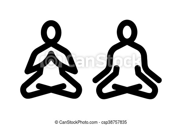 Yoga meditation icon