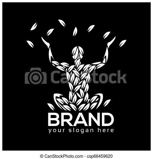 yoga meditation logo vector illustration isolated on black background https www canstockphoto com yoga meditation logo vector illustration 66459620 html