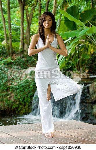 Yoga Outdoors - csp1826930