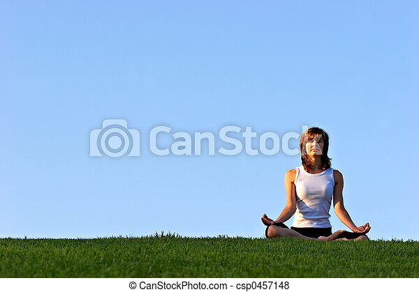yoga, parkera - csp0457148