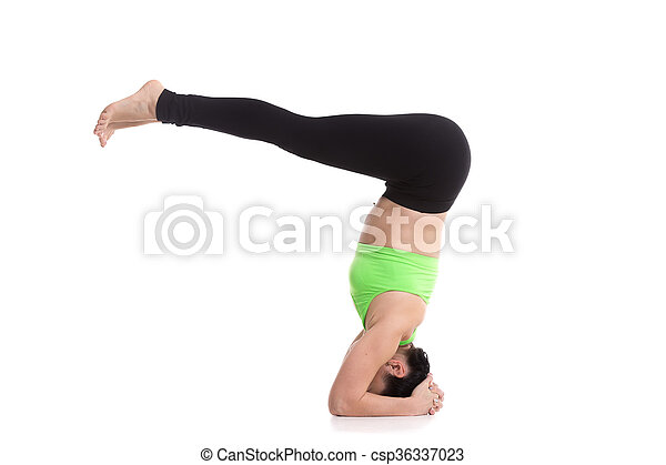 yoga pose for abdominal muscles beautiful sporty girl