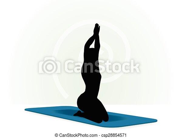 Yoga pose isolated on white background - csp28854571