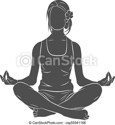 Yoga Pose Meditating Woman Lotus Fitness