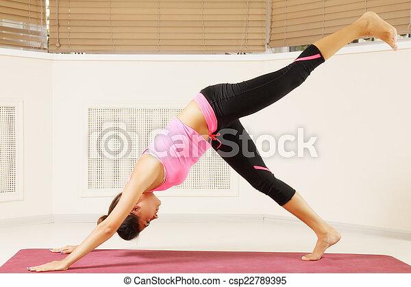 gymnastics one person yoga poses