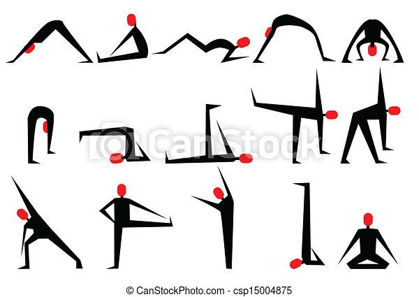 Yoga poses - csp15004875