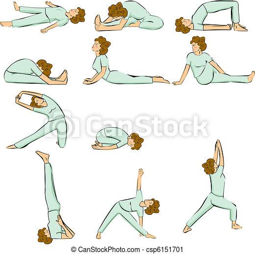 Yoga poses - csp6151701