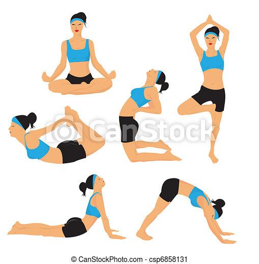 Yoga poses - csp6858131