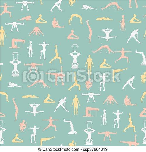 yoga poses with props yoga poses with props in vector