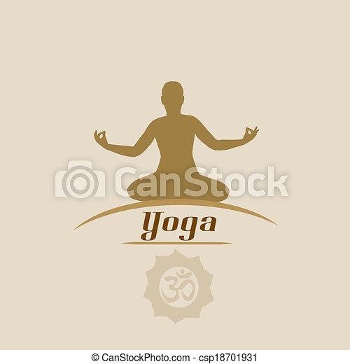 Yoga Poster In Vitage Style With Silhouette