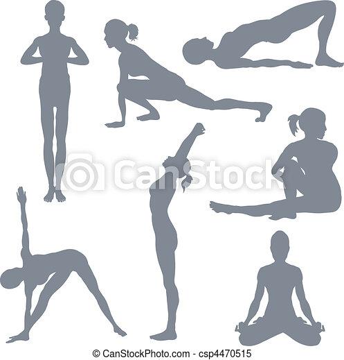 Yoga postures - csp4470515