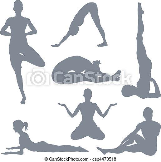 Yoga postures - csp4470518