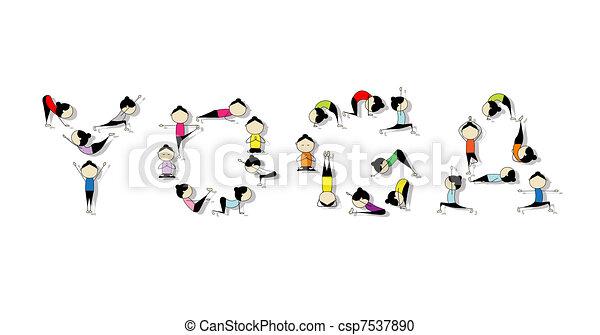 Yoga practice, concept for your design - csp7537890