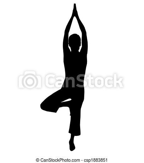 yoga silhouette  - csp1883851