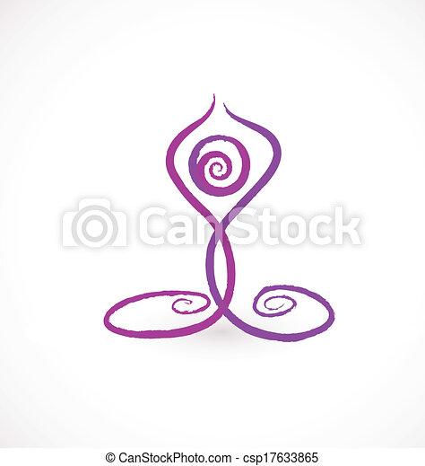 Yoga swirly pose logo - csp17633865
