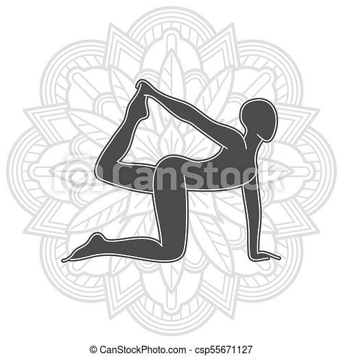 Yoga Training Logo Design Female Pilates Silhouette
