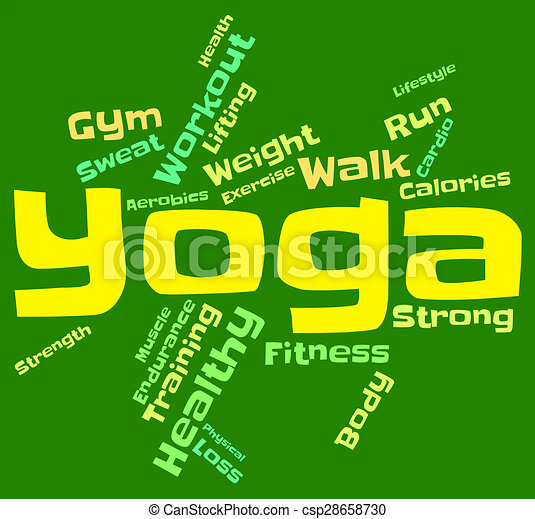 Yoga Word Indicates Silence Pose And Meditate Yoga Word Meaning