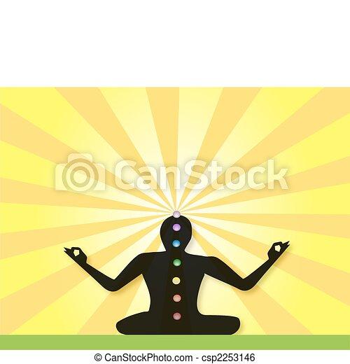 Yogi Meditating in Lotus Posture - csp2253146