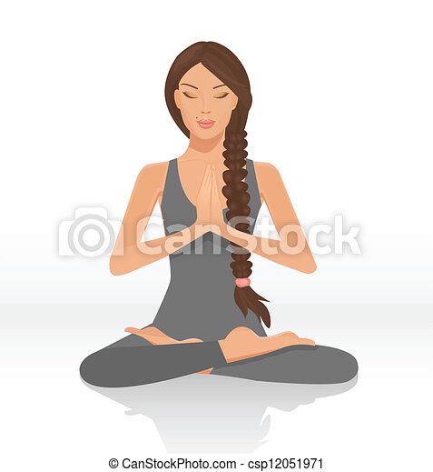 yogi woman - csp12051971