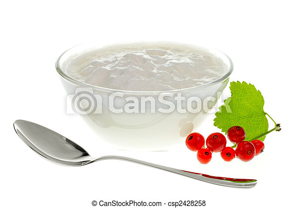 Yogurt bowl with Redcurrant berries - csp2428258