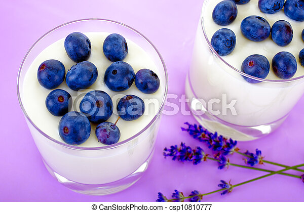 yogurt with berries - csp10810777