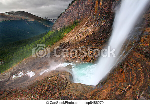 Twin Falls - Yoho National Park - csp8486279