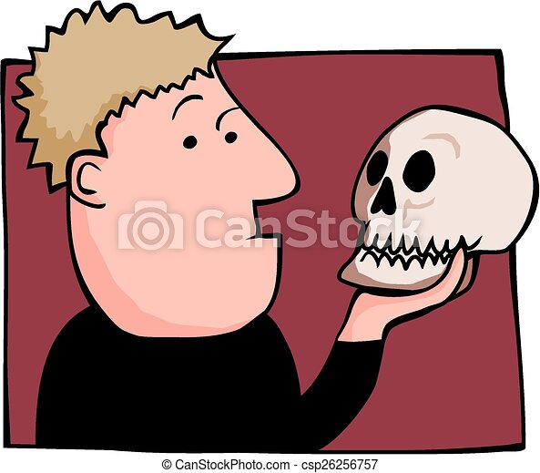 Hamlet und Yorick - csp26256757