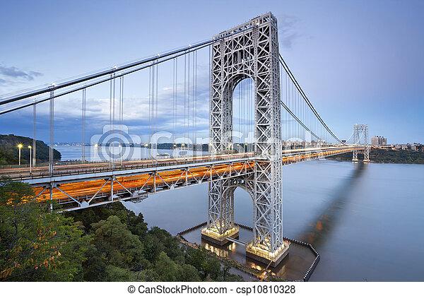 york., 新しい, ワシントンジョージ, 橋 - csp10810328