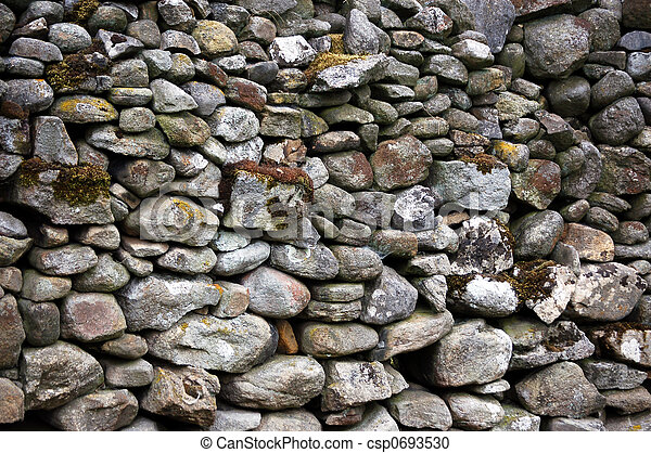 Yorkshire stone wall - csp0693530