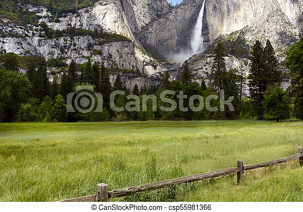 Yosemite Falls, Yosemite National Park, California - csp55981366